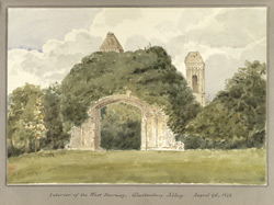 Interior of the West doorway, Glastonbury Abbey Aug 9th1848
